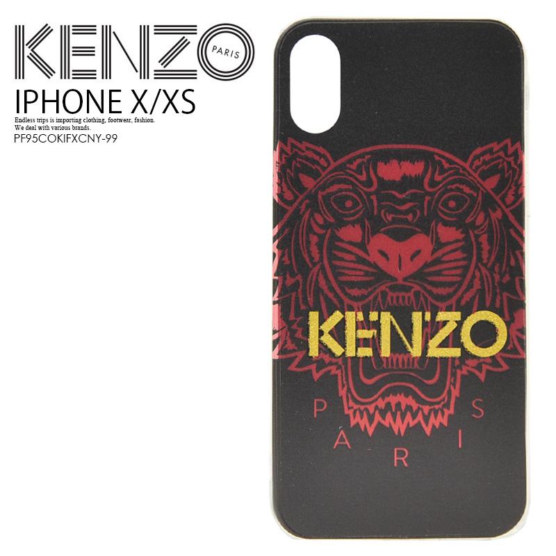 【日本未入荷! 希少!】 KENZO(ケンゾー) IPHONE X/XS TIGER CASE (iPhone X XS タイガー ケース) iPhone ケース スマホケース アイフォンX iPhoneX iPhoneXS 対応 BLACK (ブラック) PF95COKIFXCNY-99