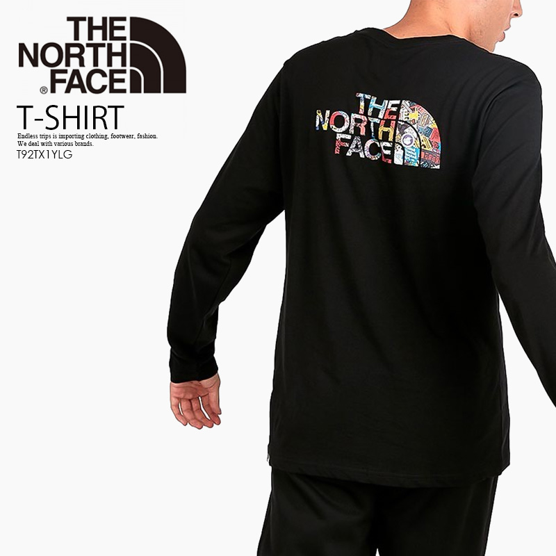 ac4d64a07 THE NORTH FACE (North Face) LONG SLEEVE EASY TEE (Longus Reeve easy  T-shirt) men's lady's cut-and-sew tops TNFB/STCKRBMBPT (black) T92TX1YLG  end rest ...