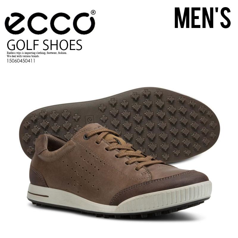 【希少! 大人気! メンズ スパイクレス ゴルフシューズ】 ECCO(エコー)STREET RETRO (ストリート レトロ) ゴルフ GOLF SHOES BIRCH/COFFEE (コーヒー) ブラウン 15060450411 ENDLESS TRIP ENDLESSTRIP エンドレストリップ