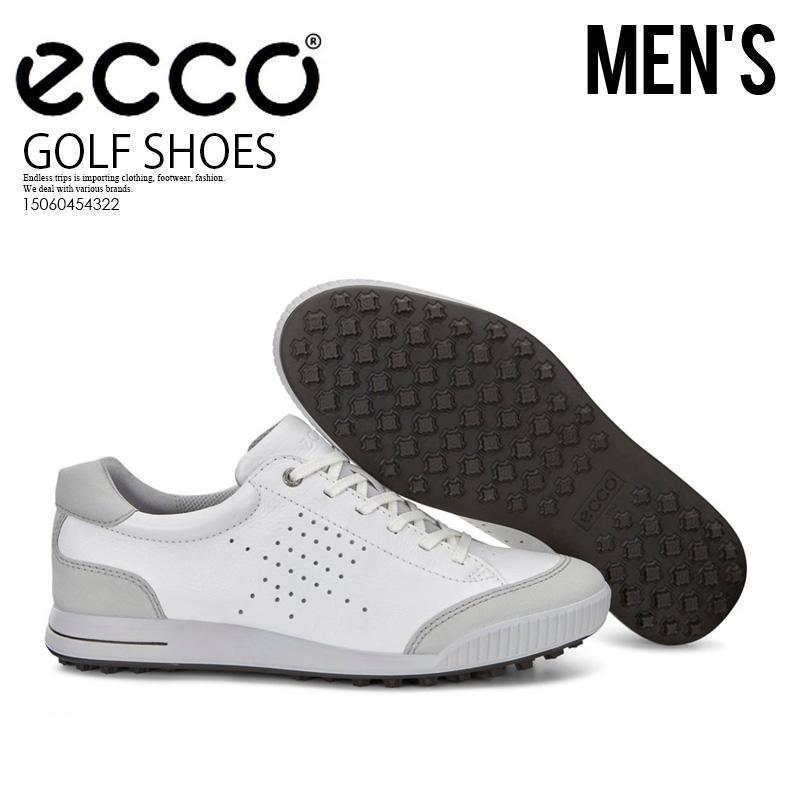 【希少! 大人気! メンズ スパイクレス ゴルフシューズ】 ECCO(エコー)STREET RETRO (ストリート レトロ) ゴルフ GOLF SHOES WHITE/CONDRETE (ホワイト) 15060454322 ENDLESS TRIP ENDLESSTRIP エンドレストリップ