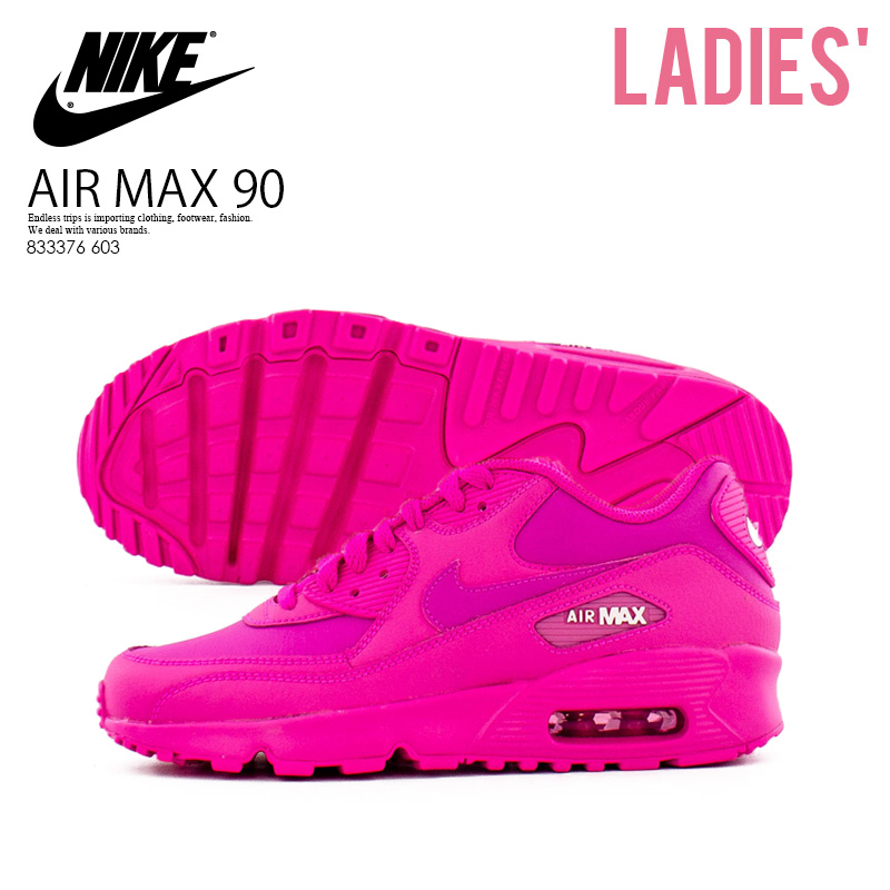 best service 15f98 9dc71 NIKE (Nike) AIR MAX 90 LEATHER (GS) (Air Max 90 leather) WOMENS women  sneakers LASER FUCHSIA/LASER FUCHSIA (pink) shocking pink 833376 603  ENDLESS ...