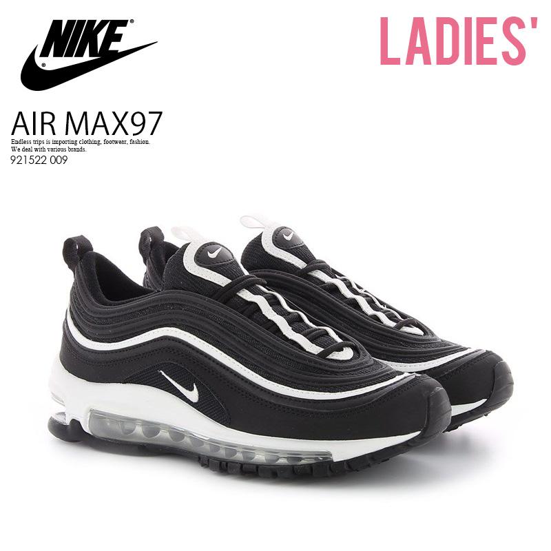 【日本未入荷! 大人気! レディース】 NIKE(ナイキ)AIR MAX 97 (GS) (エア マックス 97) レディース サイズ スニーカー キッズモデル スニーカー BLACK/WHITE-METALLIC SILVER (ブラック/ホワイト) 921522 009 ENDLESS TRIP