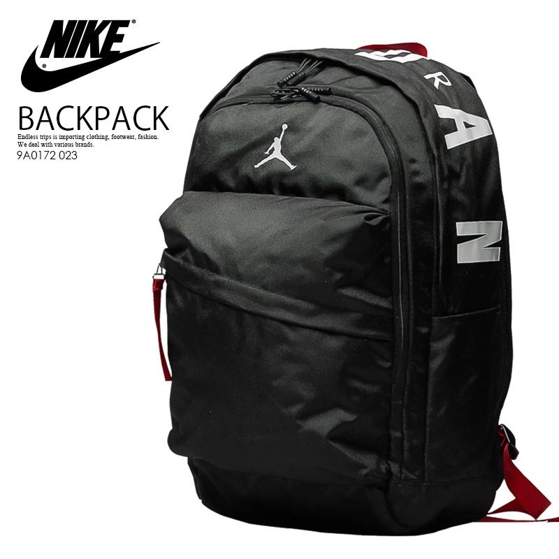 NIKE (Nike) JORDAN AIR PATROL BACKPACK (Jordan air patrol backpack) men's lady's day pack rucksack BLACKWHITEGYM RED (black white red) 9A0172