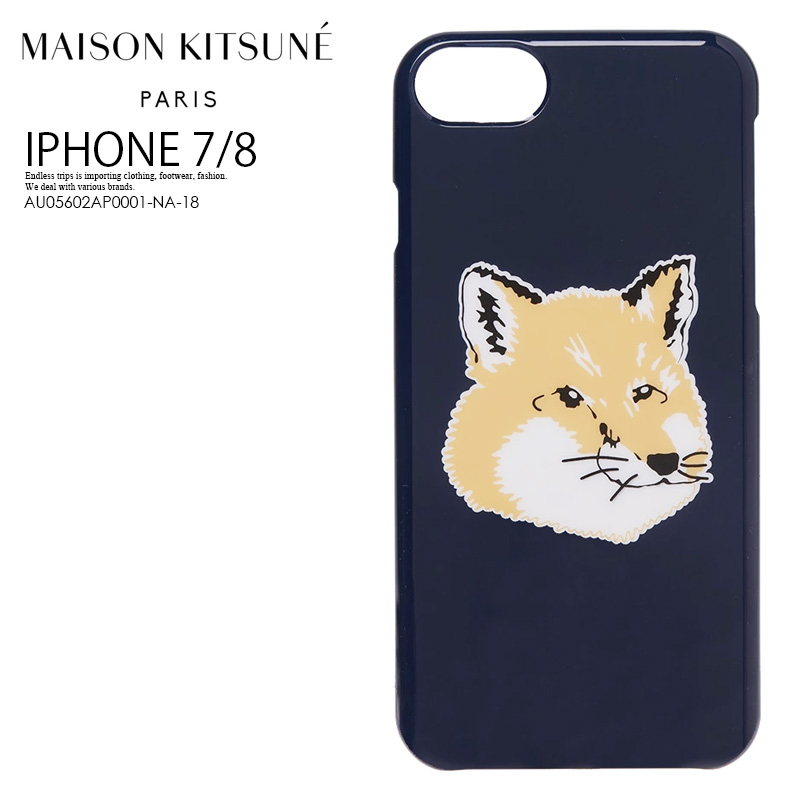 f2928607 MAISON KITSUNE (maison fox) FOX HEAD IPHONE 7/8 CASE (Fox head iphone7  iphone8 case) iphone case smartphone case eyephone 7/8 iPhone7/8 NAVY  (navy) ...