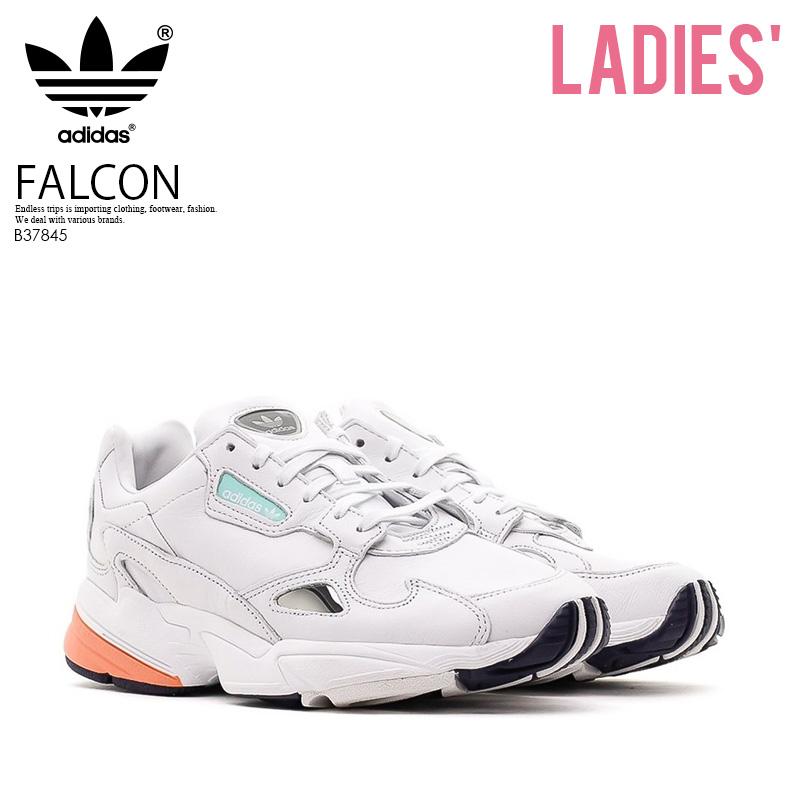 お買い物マラソン お買い物マラソン お買い物マラソン 【日本未入荷!希少!レディース スニーカー】 adidas (アディダス) FALCON W (ファルコン) ダッド シューズ スニーカー CRYWHT/CRYWHT/EASORA (ホワイト) B37845 厚底 厚底スニーカー アグリーシューズ アグリースニーカー エンドレストリップ e3c