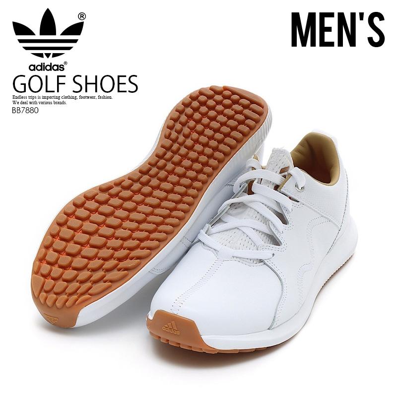 【入手困難!メンズ ゴルフシューズ】 adidas (アディダス) ADICROSS PPF (アディクロス) メンズ MENS GOLF SHOES スパイクレス ゴルフ FTWWHT/GUM10/FTWWHT (ホワイト) BB7880 エンドレストリップ