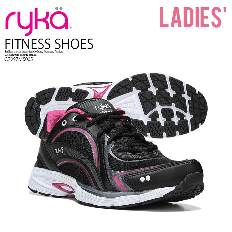 【希少!大人気!レディース モデル】 RYKA (ライカ) SKY WALK (スカイ ウォーク) ウィメンズ ウォーキング ZUMBA ダンス フィットネス エクササイズ シューズ スニーカー BLACK/PINK(ブラック ピンク) C7997M5005 ENDLESS TRIP