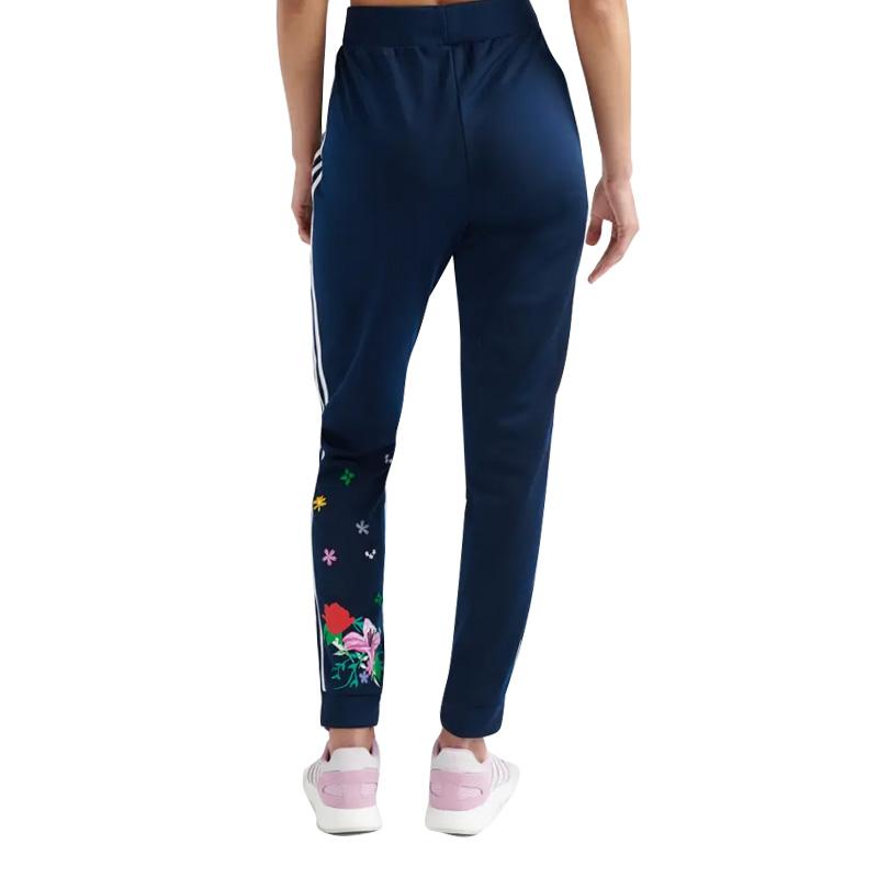 adidas (Adidas) WOMENS SIDE STRIPE PANTS (side stripe underwear) bottoms skinny pants Kinney jersey underwear women BLACKWHITE (black white) DU9721