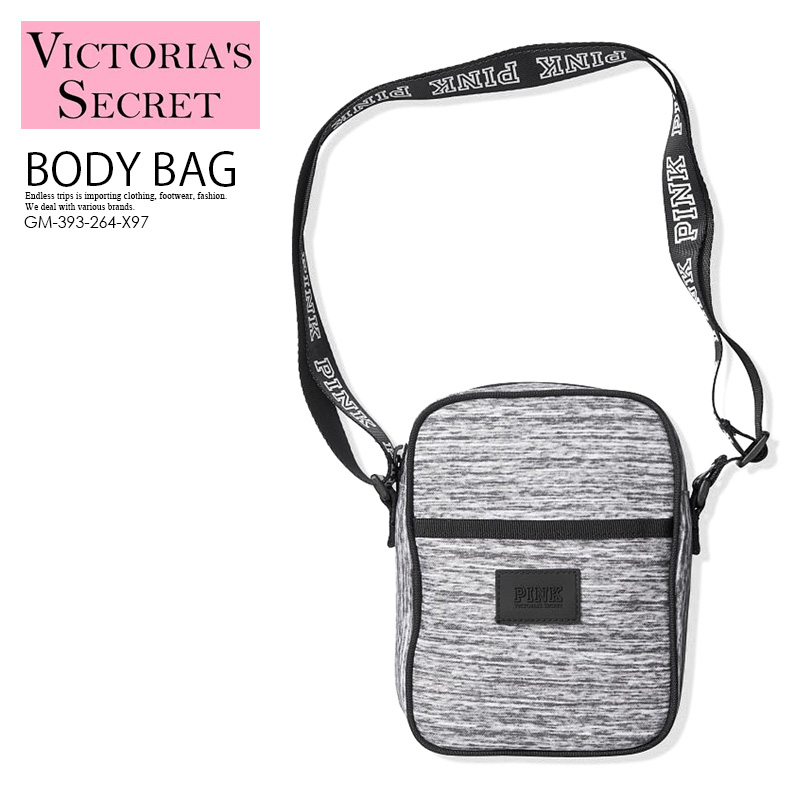 e55142719b3 VICTORIA'S SECRET (Victoria's secret) PINK SPORT CROSSBODY (pink sports  crossbody) mini-flight bag body bag shoulder bag Lady's bag GREY MARL  (gray) ...