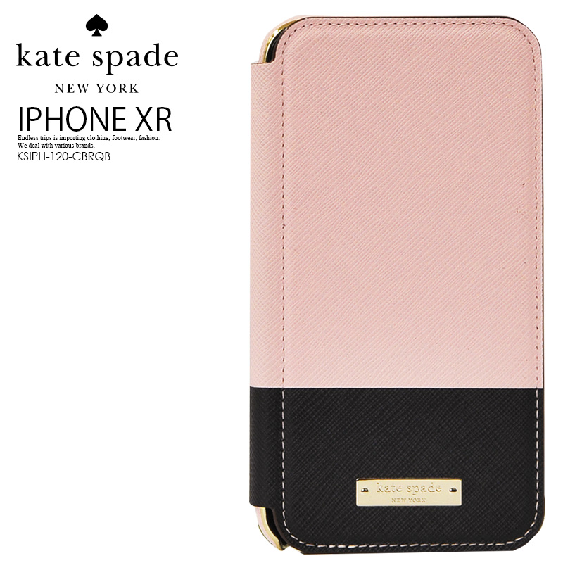 huge selection of 897f6 9353c kate spade Kate spade COLOR BLOCK INLAY WRAP FOLIO CASE FOR iPhone XR  (color block inlay warp folio case iphoneXR) smartphone notebook type  eyephone ...