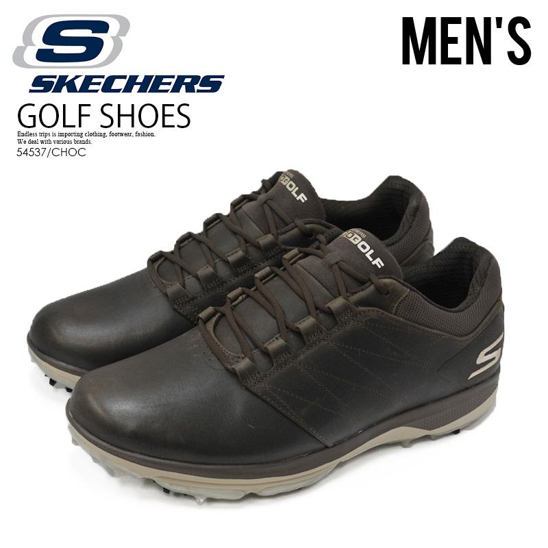 【入手困難!希少!メンズ ゴルフシューズ】 SKECHERS (スケッチャーズ) GO GOLF PRO 4 LX (ゴー ゴルフ プロ) MENS ゴルフ スパイク スニーカー CHOCOLATE (チョコレート) ブラウン 54537/CHOC ENDLESS TRIP