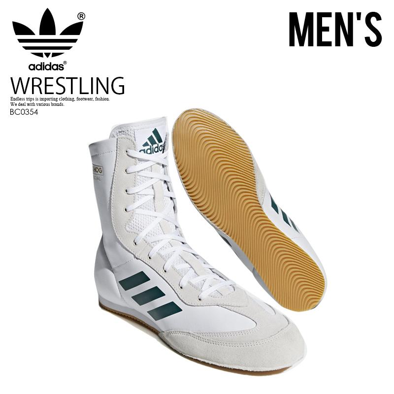 【希少!大人気!メンズ レスリングシューズ】 adidas(アディダス)BOX HOG X SPECIAL(ボックス ホグ スペシャル) BOXING SHOES ボクシング トレーニング WHITE (ホワイト) BC0354 ENDLESS TRIP ENDLESSTRIP エンドレストリップ
