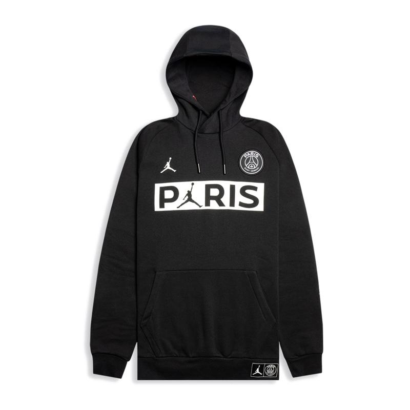 NIKE (Nike) AIR JORDAN PARIS SAINT GERMAIN PULLOVER FLEECE PSG (Air Jordan Paris Saint Germain pullover fleece) parka tops men sweat shirt BLACK WHITE