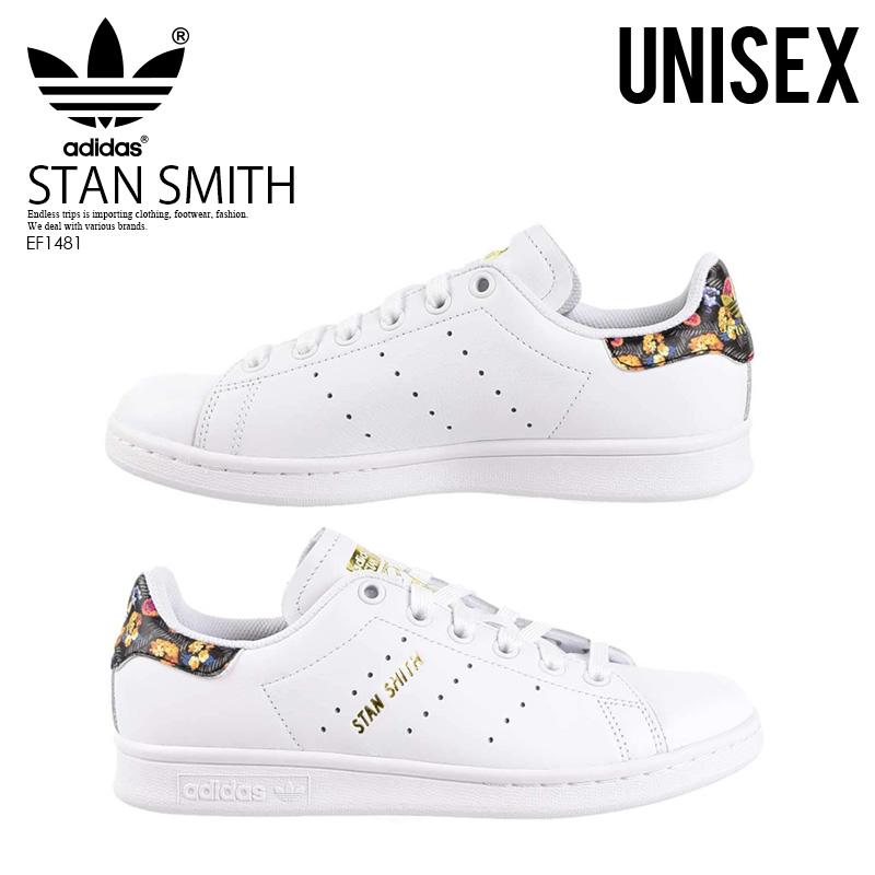 promo code a9472 5a4fa adidas (Adidas) STAN SMITH W (Stan Smith) floral design men gap Dis  sneakers FTWWHT/FTWWHT/GOLDMT (white) EF1481 ENDLESS TRIP end rest lip