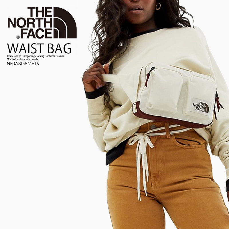 lässige Schuhe Gratisversand beliebte Marke THE NORTH FACE (the North Face) KANGA WAIST PACK (khanga bum-bag) bum-bag  body bag shoulder bag men gap Dis VNTGWTLH/SQRDLH (white / brown) ...