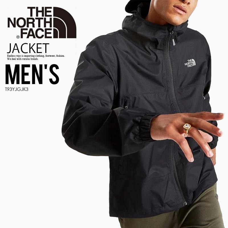 【日本未入荷!大人気!メンズ ジャケット】THE NORTH FACE (ノースフェイス) WATERPROOF JACKET (ウォータープルーフ ジャケット) アウター メンズ ジャケット NEW TAUPE BLACK (ブラック) 撥水加工 T93YJGJK3