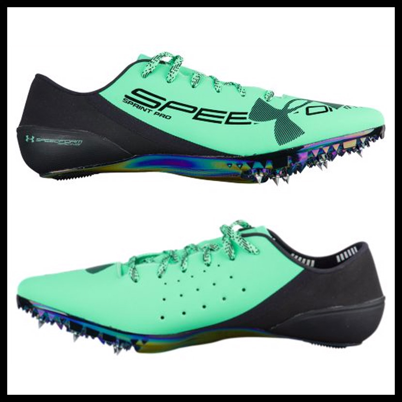 e609a042 UNDER ARMOUR (under Armour) UA SPEEDFORM SPRINT PRO (speed form sprint pro)  MENS track and field shoes VGN/VGN/BLK (green / black) 1,266,203-299 ...