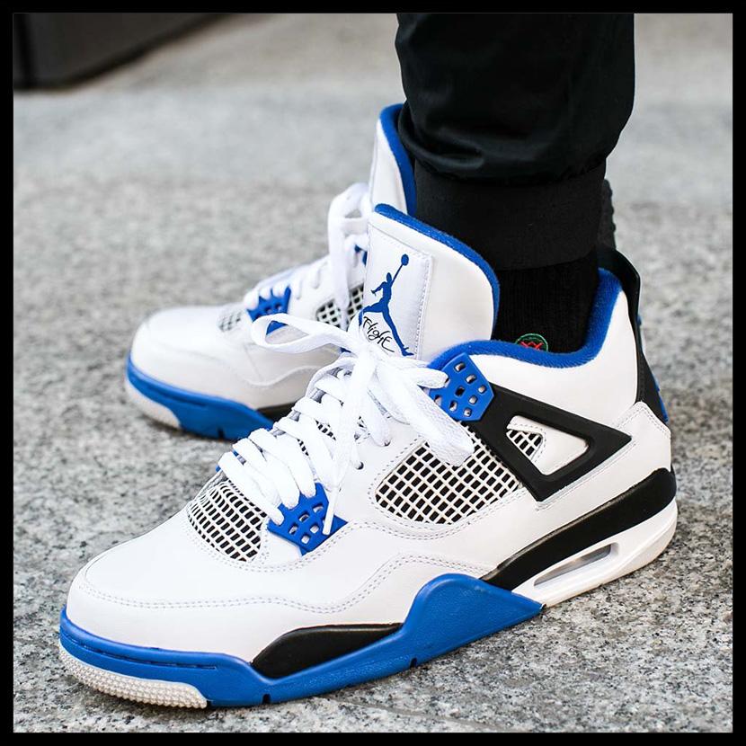 843c170fe98a22 NIKE (Nike) AIR JORDAN 4 RETRO (nostalgic Air Jordan 4) MENS sneakers shoes  WHITE GAME ROYAL-BLACK (white   blue   black) 308497 117 ENDLESS TRIP pickup