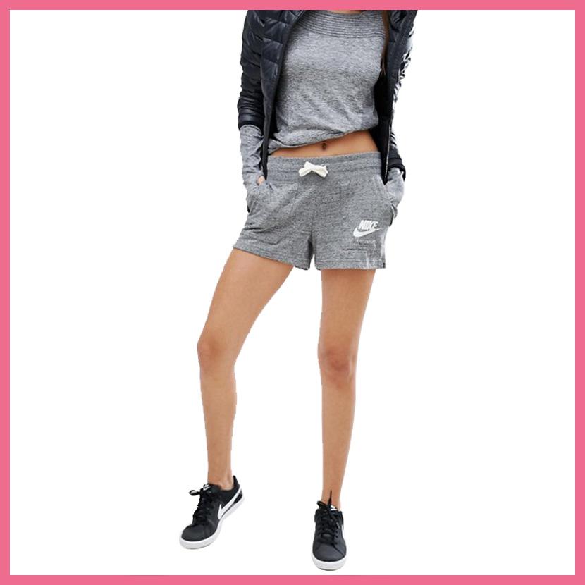 Nike Gym Vintage Women's Shorts Carbon Heather/Sail