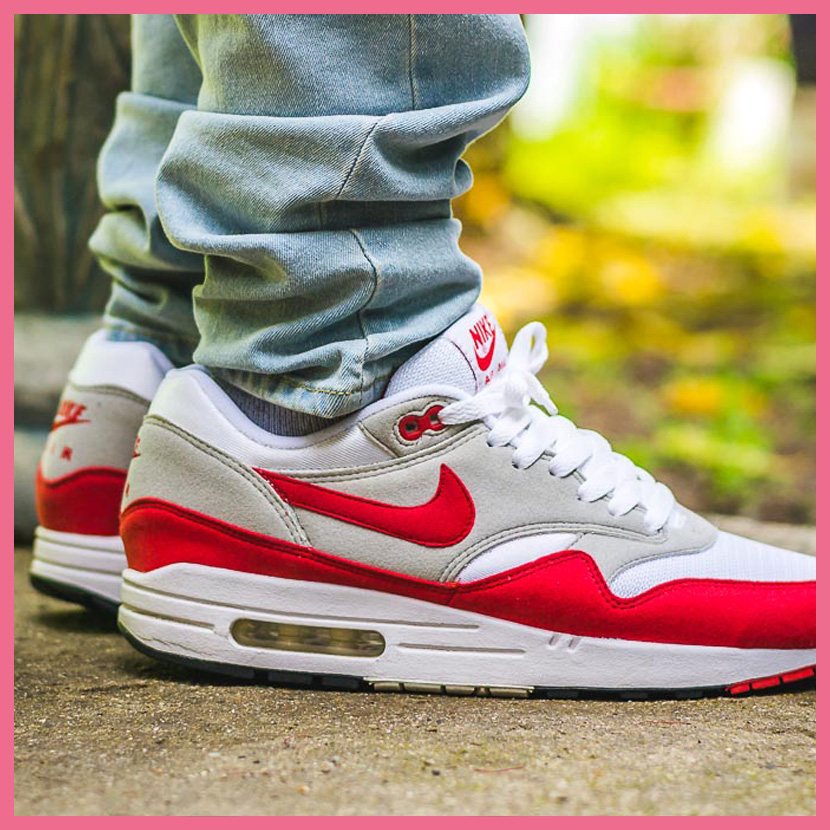 NIKE (Nike) AIR MAX 1 QS (GS) (Air Max 1 QS) WOMENS women sneakers shoes WHITE/UNIVERSITY RED (white / red) 827657 101 ENDLESS TRIP