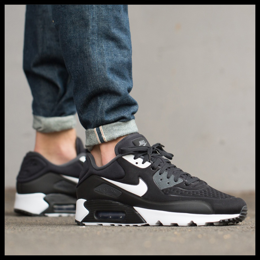 NIKE(耐克)MENS AIR MAX 90 ULTRA SE(空气最大90超SE)男子的运动鞋BLACK/WHITE-ANTHRACITE-WHITE(黑色/白)845039 001 ENDLESS TRIP(永无休止的旅行)
