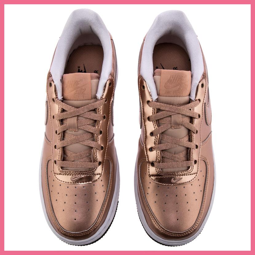 NIKE(耐克)NIKE AIR FORCE 1 SE(GS)(空军一号SE)妇女运动鞋MTLC RED BRONZE(有金属特性的红青铜)玫瑰黄金877083 901 ENDLESS TRIP(永无休止的旅行)