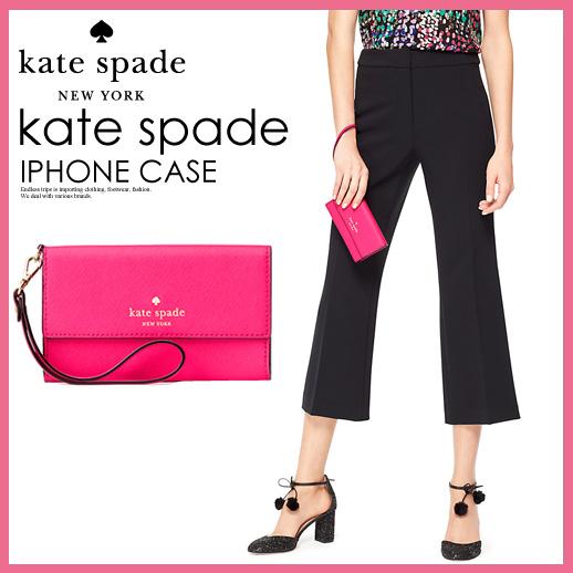 支持kate spade凯特黑桃CEDAR STREET IPHONE WRISTLET(shidasutorito)女子的iPhone 6/6S/7的手吊带情况3个机会清单让PINK CONFETTI(959)(粉红)8ARU1099 ENDLESS TRIP(永无休止的旅行)