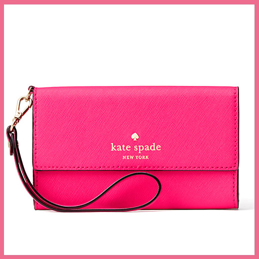 Three kate spade Kate spade CEDAR STREET IPHONE WRISTLET (Cedar street) Lady's iPhone 6/6S/7-adaptive hand strap cases fold list let PINK CONFETTI(959) (pink) 8ARU1099 ENDLESS TRIP (endless trip)