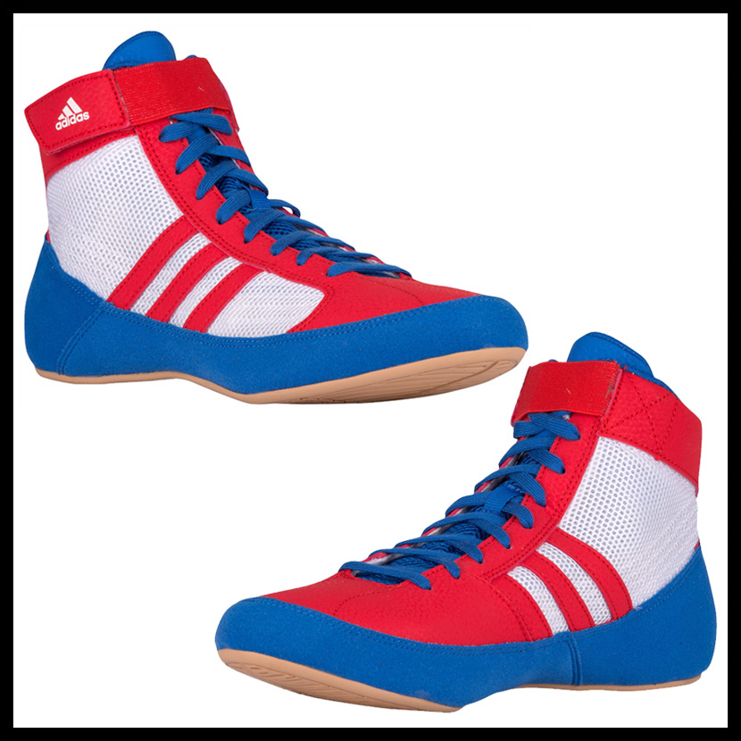 closeout adidas adidas hvc wrestling shoes boxing training blue vivred  ftwwht blue red white aq3324 endless 75f720996