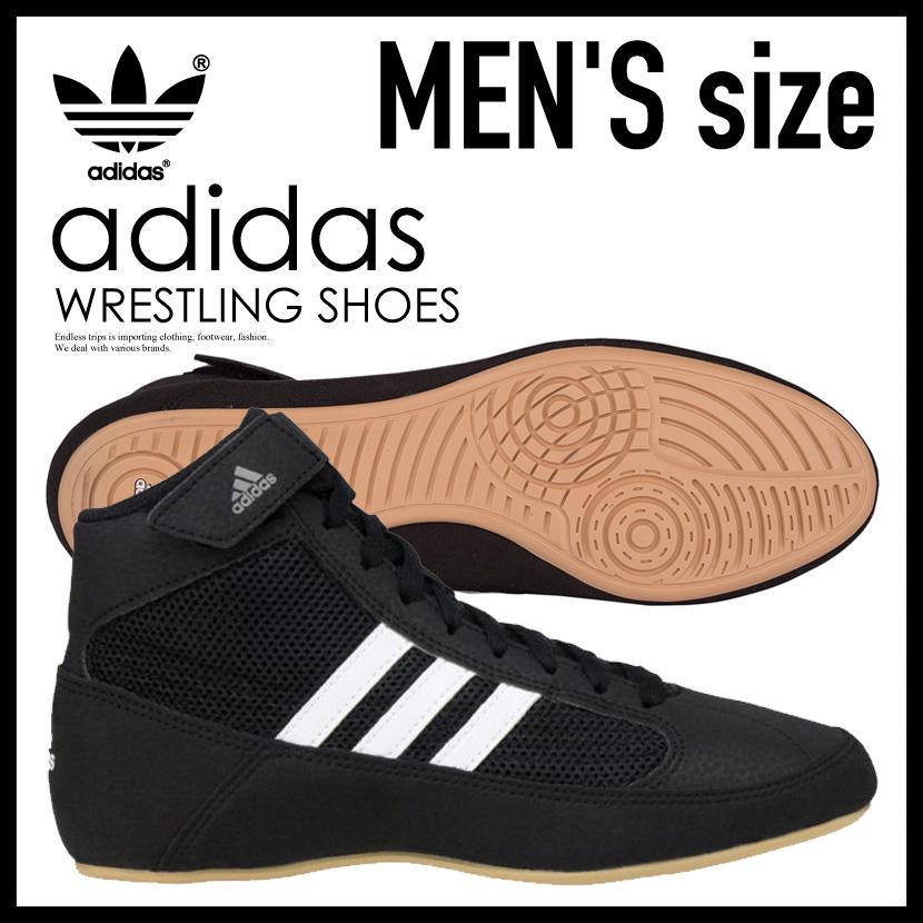 【希少!大人気!メンズ レスリングシューズ】 adidas(アディダス)HVC WRESTLING SHOES ボクシング トレーニング CBLACK/FTWWHT/IRONMT (ブラック/ホワイト) AQ3325 ENDLESS TRIP ENDLESSTRIP エンドレストリップ