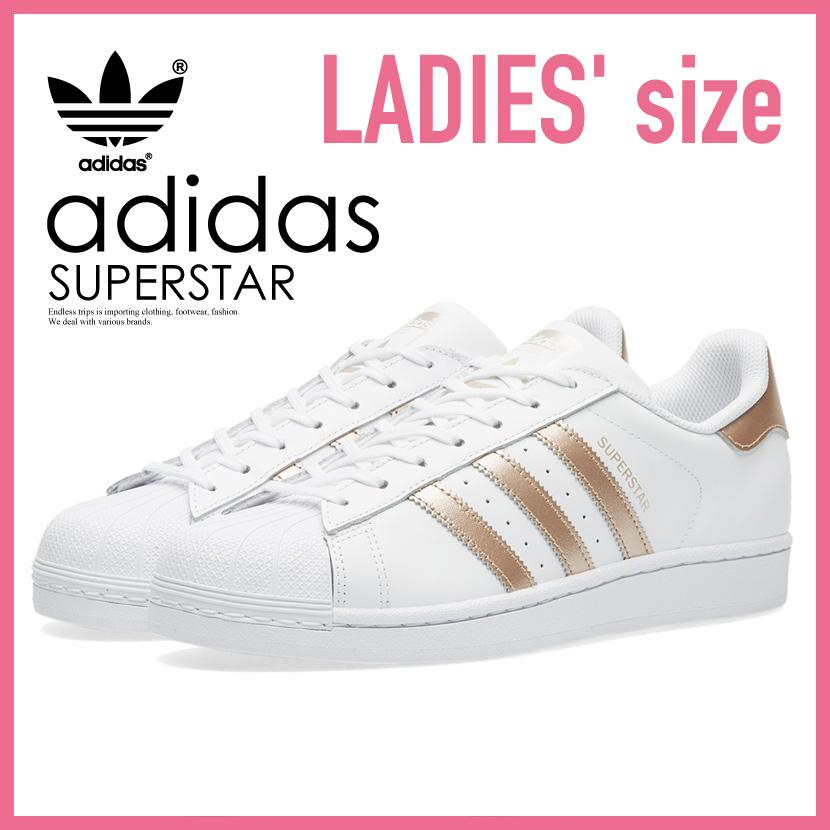 【希少!大人気!レディース モデル】 adidas(アディダス)SUPERSTAR W (スーパースター) WOMENS ウィメンズ スニーカー シューズ FTWWHT/SUPCOL/FTWWHT (ホワイト/ローズメタリック) BA8169 ENDLESS TRIP ENDLESSTRIP エンドレストリップ