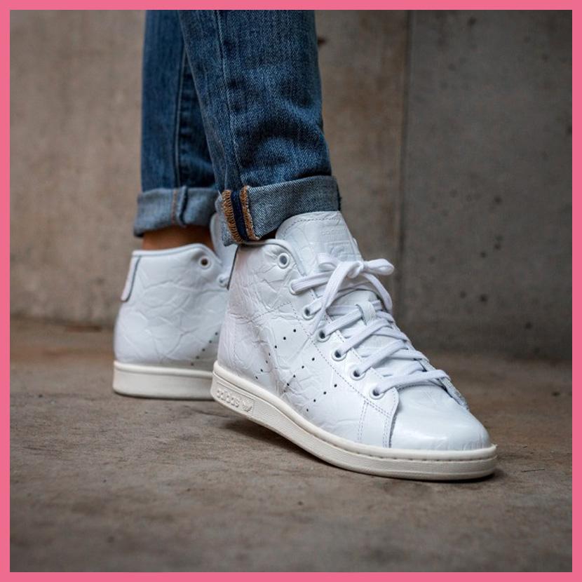 adidas (Adidas) STAN SMITH MID W (Stan Smith) women sneakers mid cut model  FTWWHT FTWWHT OWHITE (white) BB0109 ENDLESS TRIP de4ae552cea0