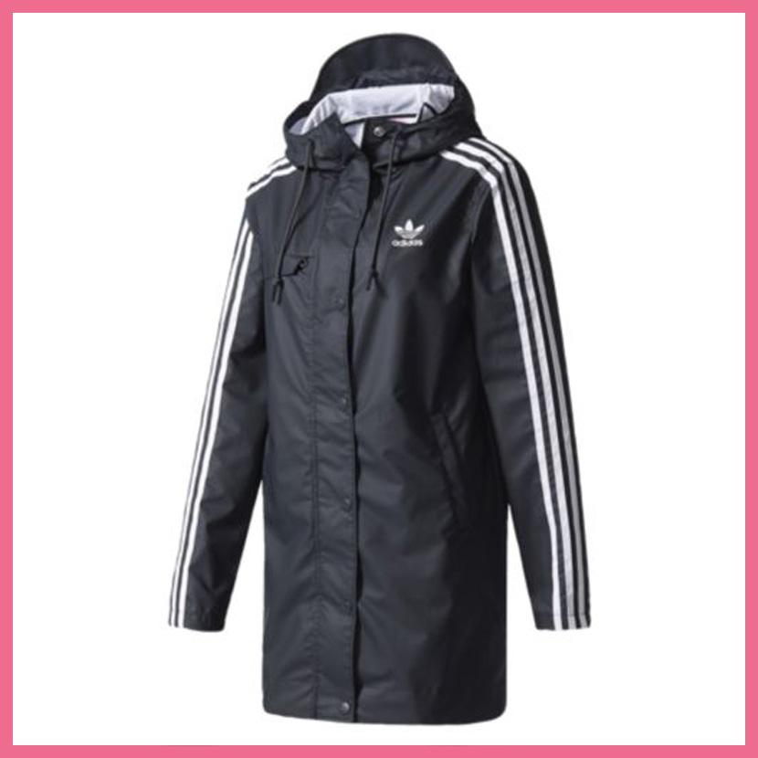 adidas (Adidas) INFO POSTER RAIN JACKET (info poster rain jacket) トレフォイルロゴ