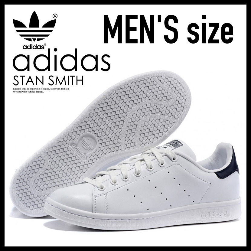 【アウトレット☆訳あり価格商品】【メンズ】幻のスニーカーが数量限定で遂に入荷!adidas Stan Smith Sneaker アディダス スタンスミス シューズ スニーカー RUNNING WHITE/NEW NAVY(ホワイト×ネイビー) M20325 【※箱ダメージ、もしくは別箱でのお届け】 ENDLESS TRIP