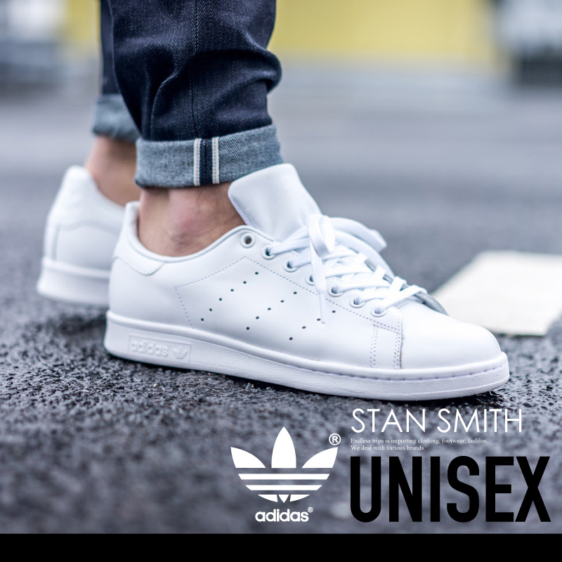 new arrival 5e4fc daa96 adidas (Adidas) STAN SMITH (Stan Smith) sneakers FTWWHT/FTWWHT/FTWWHT (all  white) S75104 ENDLESS TRIP pickup