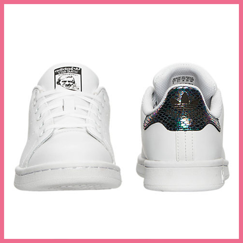 adidas new stan smith j (white/ metallic)