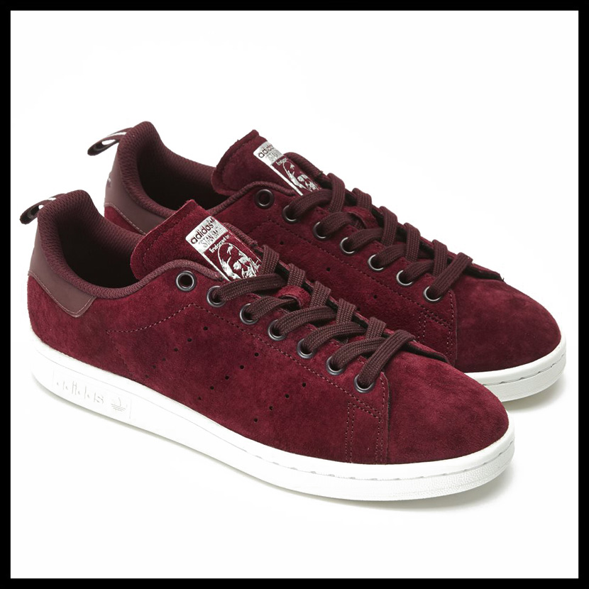 adidas (Adidas) STAN SMITH (Stan Smith) lady's men's sneakers MAROON/MAROON/FTWWHT (Marron / white) S80028 ENDLESS TRIP (endless trip)