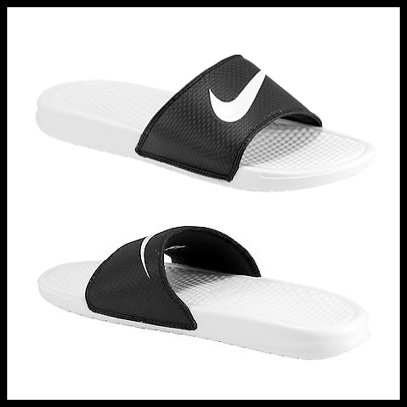 7f607c6b1dd3 NIKE (Nike) BENASSI SWOOSH (ベナッシスウォッシュ) MENS WOMENS men women shower  sandals Hel sea sandals BLACK WHITE-WHITE (black   white) 312618 019  ENDLESS ...