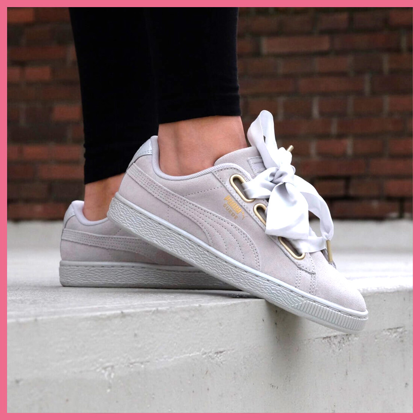 374b501a02a1 PUMA (Puma) SUEDE HEART SATIN WOMEN S (suede heart satin) WOMENS women  sneakers shoes ribbon GRAY VIOLET-GRAY VIOLET (gray) 362