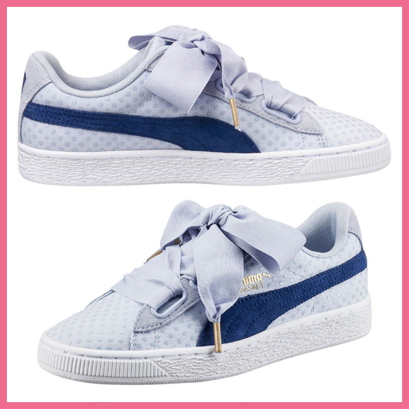 puma basket heart denim