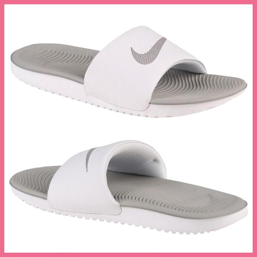 77cca6b8effd NIKE (Nike) WOMENS KAWA SLIDE (kava slide) ウィメンズシャワーサンダルヘルシーベナッシ WHITE METALLIC  SILVER (white   metallic silver) 834588 100 ENDLESS ...