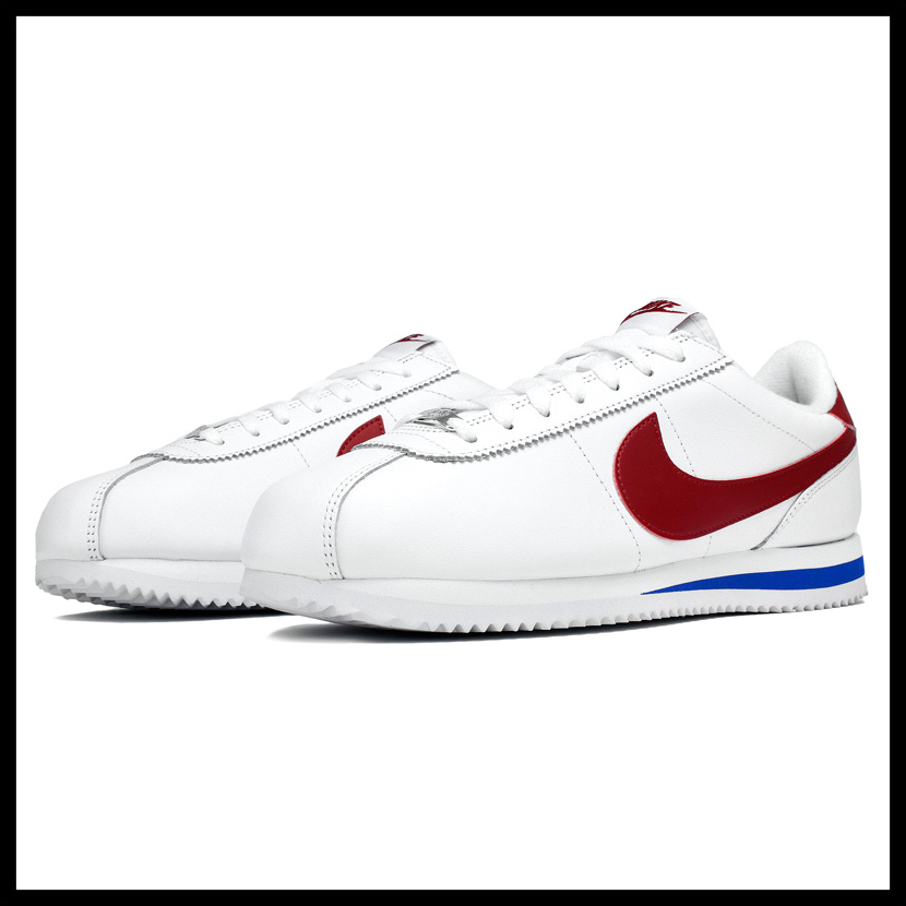00d361f7a46c NIKE (Nike) CORTEZ BASIC LEATHER OG (コルテッツベーシックレザー) MENS sneakers  WHITE VARSITY RED (white   red   blue) tricolor 882254 164