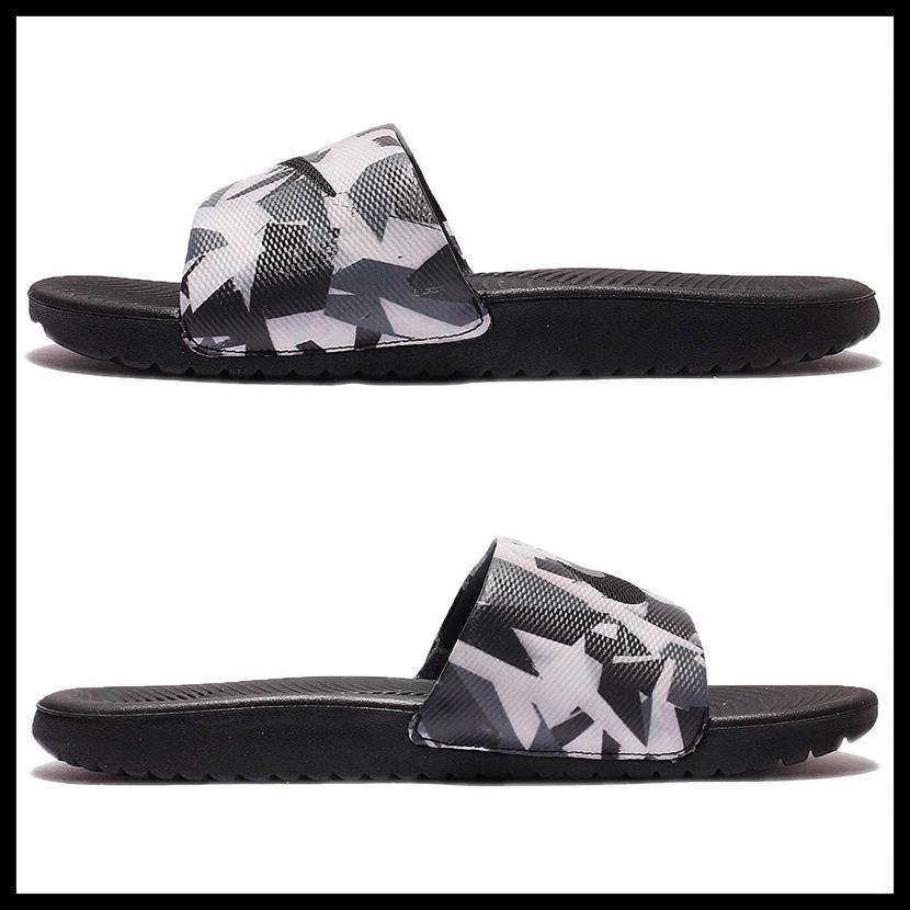 176018cfb NIKE (Nike) KAWA SLIDE PRINT (kava slide print) MENS シャワーサンダルヘルシーベナッシサンダル  DARK GREY WHITE-BLACK (dark gray   white   black) 882701 001 ...