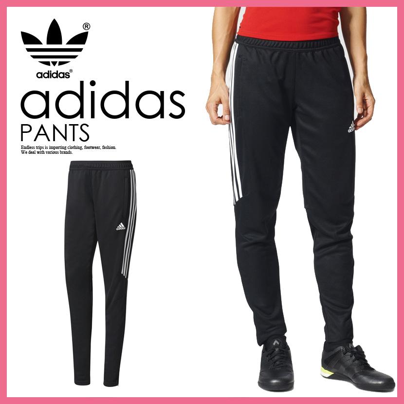 a191e472a6 adidas (Adidas) TIRO 17 TRAINING PANTS WOMENS (ティロ 17 sweat pants) TRG PNT  W women jogger underwear BLACK/WHITE (black / white) BS3685 ENDLESS TRIP ...