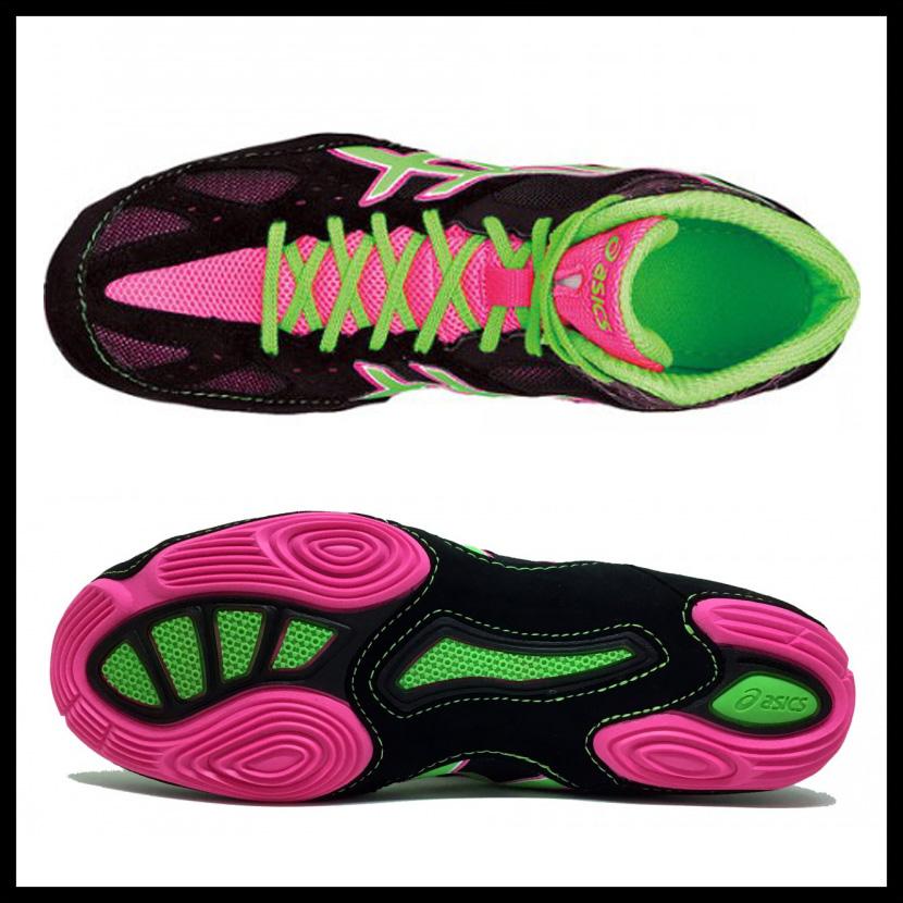 亚瑟士(亚瑟士)CAEL V6.0 BLACK/GREEN/PINK(黑色/绿色/粉红)MENS拳击训练J401Y 9005 ENDLESS TRIP(永无休止的旅行)