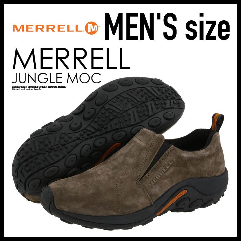 【希少!大人気!メンズ スニーカー】 MERRELL (メレル) JUNGLE MOC ジャングル MENS スリッポン シューズ GUNSMOKE (ガンスモーク) J60787 ENDLESS TRIP ENDLESSTRIP エンドレストリップ
