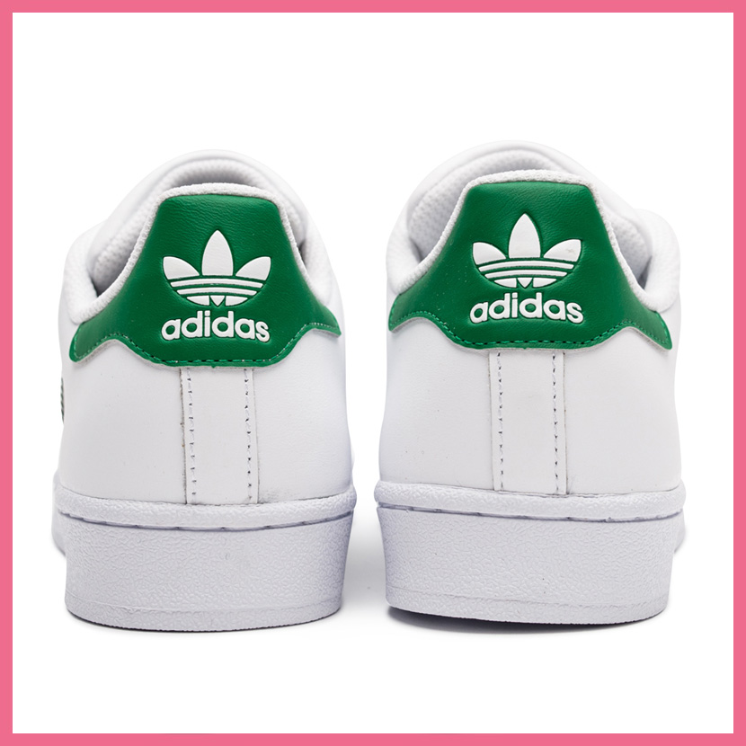 adidas superstar foundation white green