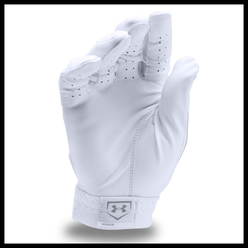 到12月7日1:59! UNDER ARMOUR(andaama)UA CLEAN UP BATTING GLOVES(清潔)棒球手套手套一對雙手WH/WH(白)1299530-100