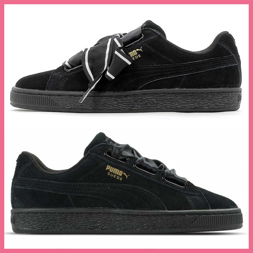 save off f333e 37311 Rakuten supermarket SALE! PUMA (Puma) SUEDE HEART STAIN II WOMEN'S (suede  heart satin 2) WOMENS women sneakers shoes ribbon PUMA BLACK-PUMA BLACK ...