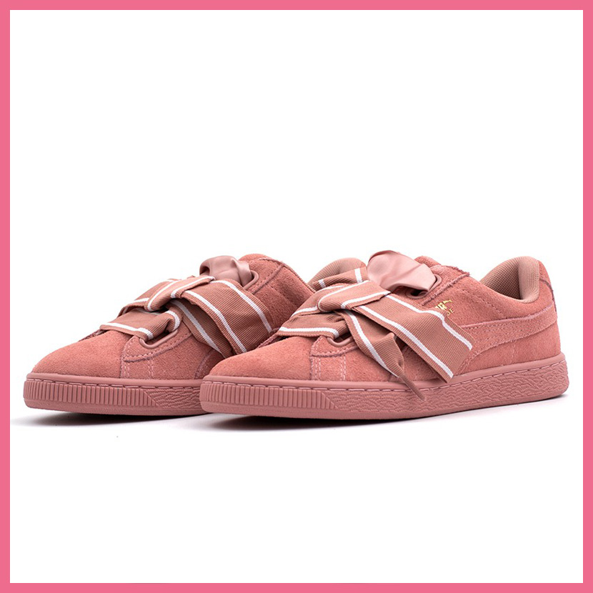 official photos 32054 92c16 PUMA (Puma) SUEDE HEART STAIN II WOMEN'S (suede heart satin 2) WOMENS women  sneakers shoes ribbon CAMEO BROWN-CAMEO BROWN (cameo brown) 364,084-03 ...
